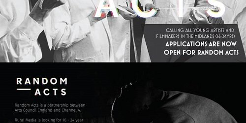 Apply to create a short arts film for Random Acts